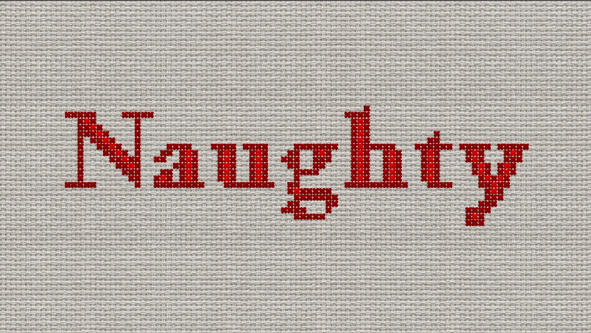 Naughty Cross Stitch